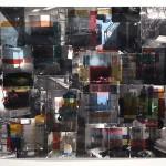 Philadelphia Interiors, 2014, gouache and toner transfer on paper, 38 x 45 in