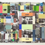 Brooklyn Exterior, 2015, gouache and toner transfer on paper, 38 x 45 in