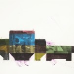 Binder Clips, 2014, gouache and toner transfer on paper, 14 x 11 in