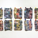 Baggage, 2014, size variable, digital prints on fabric and thread, 10 piece installation